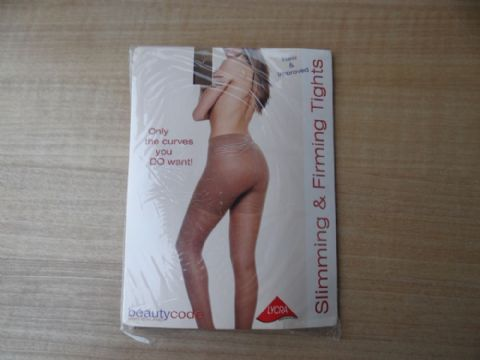 "VINTAGE SWISS ""BEAUTYCODE"" 15 DENIER SLIMMING & FIRMING TIGHTS  SIZE:- X LARGE UK 20 -22"